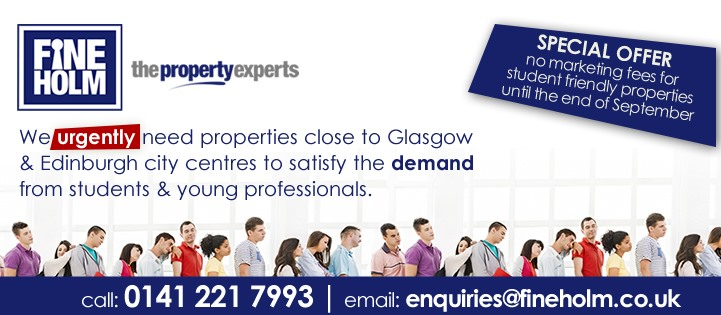Rental Property Required for Students in Glasgow & Edinburgh